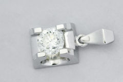 Diamond pendants. Is Beautiful platinum diamond pendant Royalty Free Stock Photos