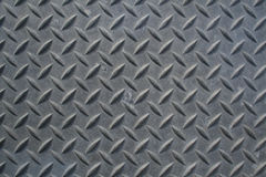 Diamond Plate. A section of weathered diamond plate steel Stock Image
