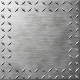 Diamond Plate. Texture with Copy Space Royalty Free Stock Photography