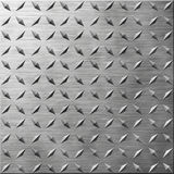 Diamond Plate. Brushed Metal Effect Texture Royalty Free Stock Photos