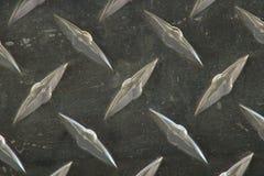 Diamond plate background. Close up shot of diamond plate background texture stainless steel Stock Photos