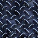 Diamond Plate Blue Reflective stock photos