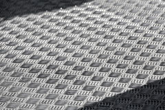 Diamond plate floor Stock Image