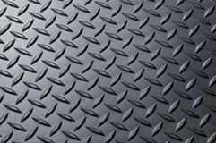 Diamond-plate metal background. Stock Photos