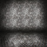 Diamond plate metal room Stock Image