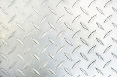 Diamond Plate Silver Metal Stockfotos