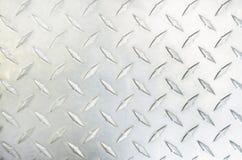 Diamond Plate Silver Metal stock photos