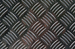 Diamond plate steel background Stock Photos