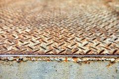 Diamond Plate Steel Pavement Fotografering för Bildbyråer