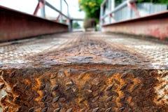 Diamond Plate Steel Pavement Royaltyfri Bild