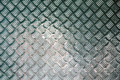 Diamond plate steel profiled flooring for industrial buildings Stock Photo