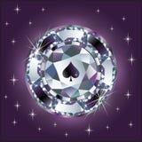 Diamond poker chip.  Royalty Free Stock Photos
