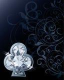 Diamond poker clubs card Stock Photos