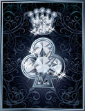 Diamond Poker clubs royal card Stock Photo