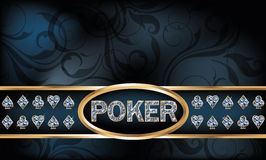 Diamond poker greeting card Stock Image