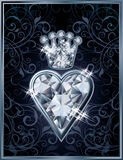 Diamond Poker hearts royal card Royalty Free Stock Photos