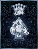 Diamond Poker spade royal card Stock Photos