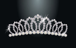 Diamond princess diadem Royalty Free Stock Photo