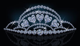 Diamond princess diadem with hearts Stock Photo