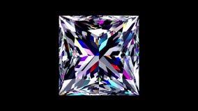 Diamond Princess iridescent bouclé Alpha matte banque de vidéos