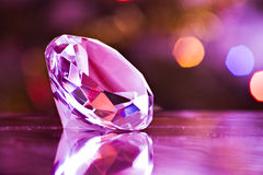 Diamond in purple Stock Photo