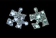 Diamond Puzzle Pieces Stock Afbeeldingen