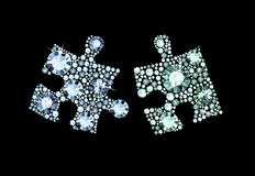 Diamond Puzzle Pieces Stock Images