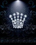 Diamond Queen crown VIP card Royalty Free Stock Images