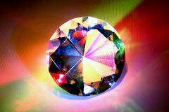 Diamond with rainbow colors Stock Images