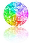 Diamond of rainbow colours on white Stock Photo