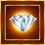 Diamond realistic vector illustration Royalty Free Stock Photography