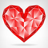 Diamond red heart icon isolated vector Royalty Free Stock Photography