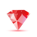 Diamond red triangular Stock Images