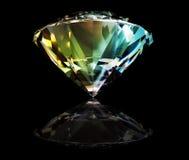Diamond with reflection Stock Photos
