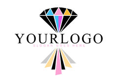 Diamond Reflection Logo vector illustration