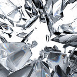 Diamond refraction background Stock Photography