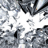 Diamond refraction background. Sparkling diamond refraction on white background Stock Photo