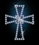 Diamond religious cross Royalty Free Stock Photo