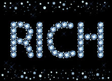 Diamond Rich Word Stock Image