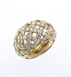 Diamond Ring. Unusual diamond ring on white Stock Images