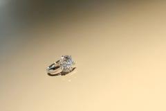Diamond Ring. Closeup on one diamond ring Royalty Free Stock Photos