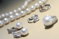Diamond Ring. Closeup on one diamond ring Stock Image