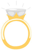 Diamond ring royalty free illustration