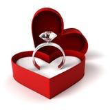 Diamond ring. Isolated on white Stock Photos