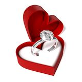 Diamond ring. Isolated on white Royalty Free Stock Photos