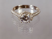 Diamond ring. Royalty Free Stock Images