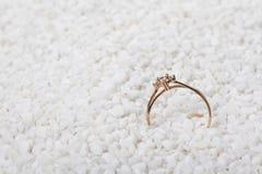 Diamond Ring. The wrapped rose gold diamond ring Stock Photos