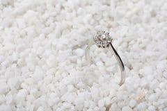 Diamond Ring. Hite sand against the backdrop of the Diamond Ring stock image
