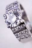 Diamond Ring. A close up of a platinum Diamond Ring Royalty Free Stock Photo