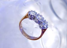 Diamond ring. Close up of a beautiful diamond ring Royalty Free Stock Photography